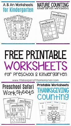 free printable worksheets for preschool kindergarten the keeper of the memories