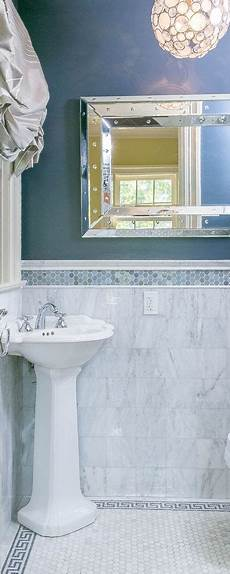 like the tile border and the floor powder tiny powder room with blue border tile marble with