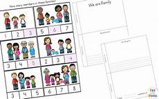 family theme preschool and family worksheets for kindergarten fun with