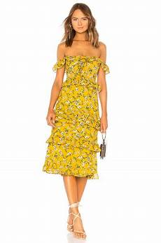 lily dress in yellow dolly floral tularosa