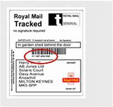 can i track a package without a tracking number royal mail