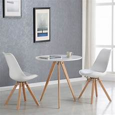 table 2 personnes table 224 manger ronde scandinave blanche 80cm oslo
