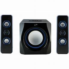 audio system subwoofer ilive ihb23b 2 1 channel wireless three speaker system