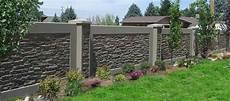 Concrete Block Fence With Images Backyard Fences
