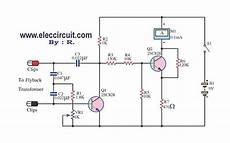 flyback transformer diagram flyback transformer tester circuit using 2sc828