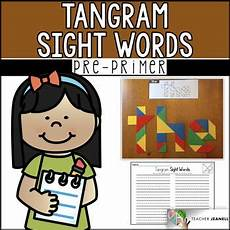 Tangram Kinder Malvorlagen Word Pre Primer Sight Words Tangrams High Frequency Words