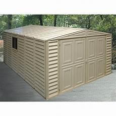 vinyl garage duramax 174 10x15 vinyl garage and foundation 130917