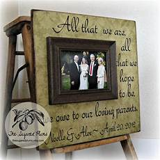 Parents Gifts For Wedding Etiquette parents thank you gifts wedding personalized picture frame