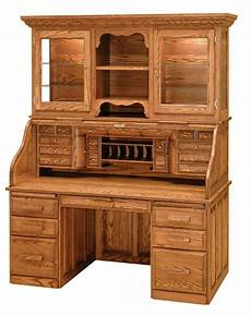solid oak home office furniture luxury amish rolltop desk hutch office furniture solid