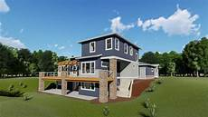 house plans for sloping lots in the rear plan 64452sc house plan for a rear sloping lot modern