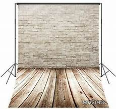 5x7ft Vinyl Wall Wood Floor Photography by 5x7ft Vinyl White Brick Wall Vintage Wood Floor Studio