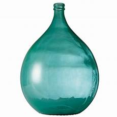 dame jeanne en verre vase de jardin en verre fum 233 bleu h 56cm dame jeanne bleu maisons du monde