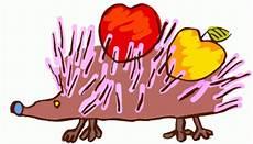 ausmalbild igel mit apfel igel mit apfel ausmalbild malvorlage kinderzeichnungen