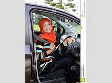 Beautiful Young Muslim Drive Car Stock Photo   Image: 39601586