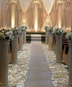 love the pillars and aisle decor wedding columns wedding decorations church wedding decorations