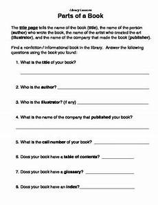 parts of a book library lessons by lucky librarian tpt