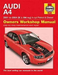 car repair manuals online free 2008 audi a4 electronic throttle control audi a4 4 cyl petrol diesel 2001 2004 haynes service repair manual workshop car manuals repair