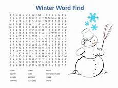 winter crossword worksheets 19981 14 free printable winter word searches kittybabylove
