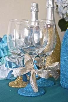 colin cowell party decor glitter bridal shower favors decorate wine glasses