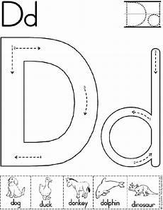 alphabet letter d worksheet preschool printable activity standard block font preschool