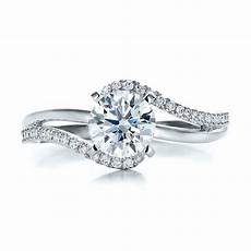contemporary wrapped split shank diamond engagement ring modern engagement rings vintage