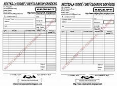 laundry dry cleaning services receipt sle