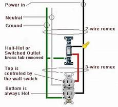 wiring a switched outlet also a half outlet in 2019 home electrical wiring electrical