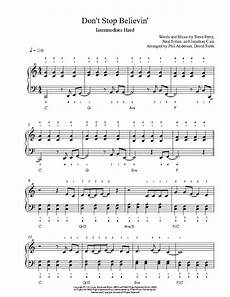 don t stop believin by journey piano sheet music intermediate level