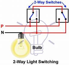 staircase wiring circuit diagram how to control a l from 2 places