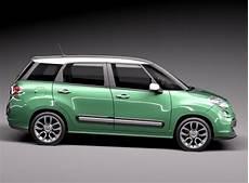 Fiat 500l Living 2014 3d Model Max Obj 3ds Fbx C4d Lwo Lw