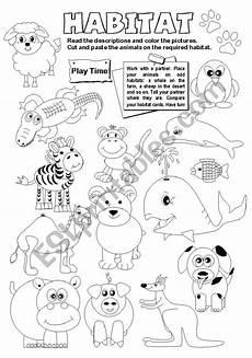 animal habitat worksheets 13889 animal habitats esl worksheet by gabitza