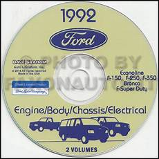 free service manuals online 1996 ford econoline e350 user handbook 1992 ford van shop manual on cd econoline e150 e250 e350 club wagon service ebay