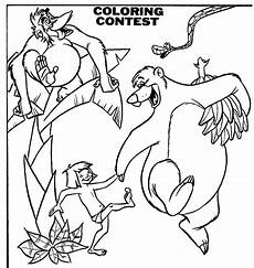 mostly paper dolls the jungle book coloring contest