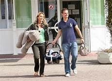 Caroline Beil Leaving Hospital In Berlin With New Baby