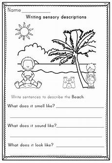 writing sensory descriptions activity workbook and posters in 2020 activity workbook