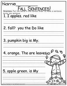 writing sentences worksheet grade 2 22174 fix up that fall sentence and so much more kindergarten fall sentences school