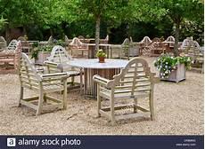 Blick Auf Den Sitzgelegenheiten Im Freien Auf Der Terrasse