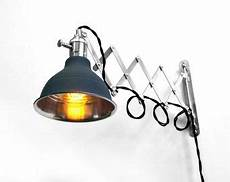 industrial scissor articulating wall l light with black