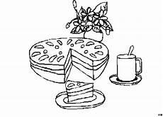 kuchen kuchenstueck ausmalbild malvorlage essen und