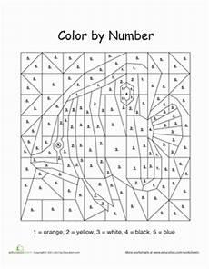 color by number animal worksheets 16069 color by number fish worksheet education