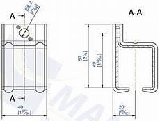 Support De Rail Haut Tubulaire Sportub Pour Rail 35 X 30