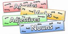 twinkl resources gt gt nouns adjectives verbs and adverbs