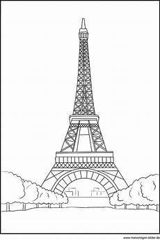ausmalbild vom eiffelturm in