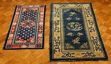 tappeti tibetani antichi lotto di due tappeti tibetani xix inizio xx secolo