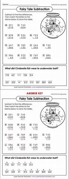 tale riddles worksheet 15039 subtraction math riddle