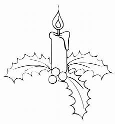 disegni di candele natalizie natale candele di natale su vischio