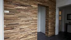 wandbekleding uit sloophout horizontale plankjes wanden