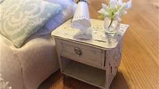 Nachttisch Shabby Look - miniature tutorial bedside table nightstand