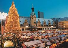 leipzig market at the town