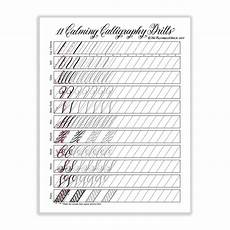11 calming calligraphy drills printable the postman s knock